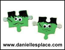 Frankenstein Magnet Or Pin Puzzle Piece Craft wallpaper Puzzle Piece Crafts, Puzzle Art, Puzzle Pieces, Girl Scout Swap, Girl Scouts, Fall Crafts, Diy Crafts For Kids, Christmas Crafts, Craft Ideas