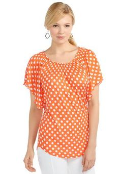 Cato Fashions Dot Smocked Neck Knit Top #CatoFashions  #CatoSummerStyle — with Melissa Graham Russell and Kasha Snodgress.