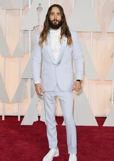 How about a lilac suit for the groom? We love Jared Leto's Oscars look.