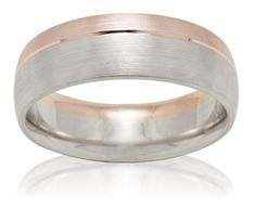 Men's Two-Tone Gold Wedding Band