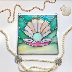 Stained Glass Pearl Panel