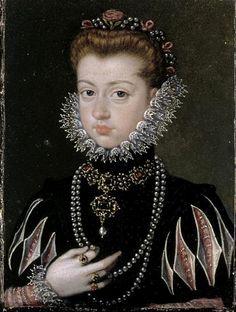 Alonso Sánchez Coello (1531 -1588)  — Portrait of a Woman  :   The Louvre, Paris.  France  (528x700)