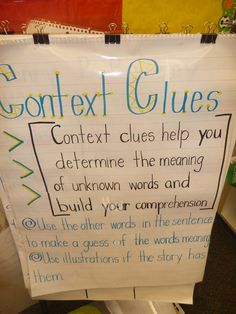 Context Clues-anchor chart, Peas and Carrots and Much Much More.... A new common core standard for first grade is context clues. I read an article our reading coach gave us on context clues and suggested the book Henry P. Baloney to teach children context clues.  It was perfect and hilarious at the same time.  THE KIDS LOVED IT!!  It was presented to the children over a five day period.