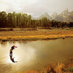 Fly-fishing at Snake River