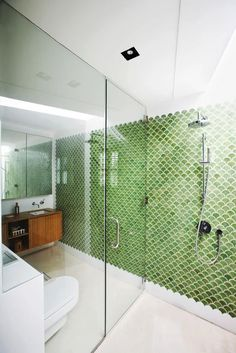 Dwell Magazine Fishtail Tiles Bathroom Pinterest