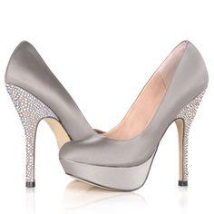 Satin evening heels