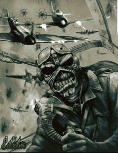 Iron🤘Maiden em p. Heavy Metal Art, Heavy Metal Bands, Dark Fantasy Art, Dark Art, Style Punk Rock, Iron Maiden Mascot, Iron Maiden Albums, Iron Maiden Posters, Eddie The Head