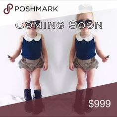 1 Left✨ Navy Tank & Striped Shorts Outfit Brand New! Absolutely adorable set. Turn your little princess into a fashion icon instantly. Includes Top and Shorts. Material Cotton blend. Ships same day if ordered by 3pm CST.                           ✨Bundle & Save✨               💟Boutique items may or may not have tags but shipped New from supplier.      💟Size chart are approximate measurements.  💟Please ask any questions you may have before purchasing Matching Sets
