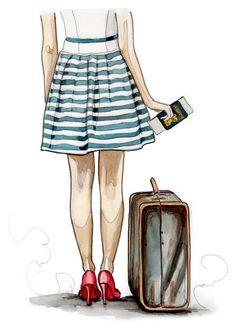 Vk cute illustration, travel illustration, croquis, travel drawing, image v Travel Illustration, Cute Illustration, Travel Clipart, Travel Drawing, Fashion Art, Fashion Today, Sketches, Girly, Clip Art