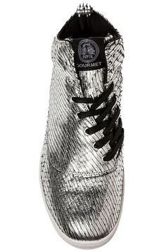 Whats?! Gourmet Sneaker The Dieci 2 Cactus LX in Silver Leather Silver - Karmaloop.com