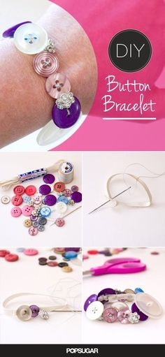 DIY Button Bracelet Pictures, Photos, and Images for Facebook, Tumblr, Pinterest, and Twitter