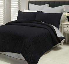 Create timeless elegance to your sleeping haven with Lux Savoy Quilted Coverlet Set. Down Comforter Bedding, Quilt Bedding, King Beds, Queen Beds, Queen Size Comforter Sets, Bed Sizes, Sheet Sets, Pillow Shams