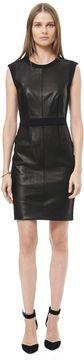 Leather Paneled Sheath on shopstyle.com