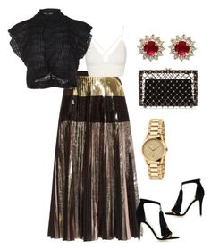 """""""Black and Gold"""" by tanyaevette on Polyvore featuring Proenza Schouler, Topshop, Charlotte Olympia, Jimmy Choo, Gucci and Effy Jewelry"""