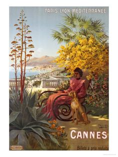 .Cannes, French Riviera, PLM Railways company