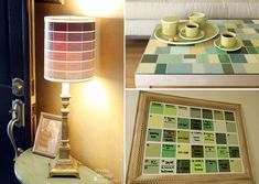 great ideas for using paint chip sample cards!