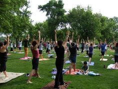 2015 FREE Yoga in the Park at Monticello's Pioneer Park. A blissful time before the day began enhanced everyone's mood! 1 hour of easy flowing yoga was led safely by certified instructors.