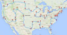 The Ultimate Road Trip -- Hey Badgers! Working on earning that Road Trip Badge? Here's a handy map that might help! Usa Roadtrip, Road Trip Usa, Usa Trip, Roadtrip Honeymoon, Travel Maps, Travel Usa, Places To Travel, Travel Destinations, Places To Go