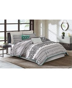 CLOSEOUT! Echo Kalea Bedding Collection - Black And White Bedding Sets - SLP - Macy's