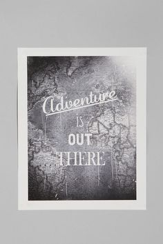 UrbanOutfitters.com > Zach Terrell For Society6 Adventure Is Out There Art Print $24 (so easy to diy!)