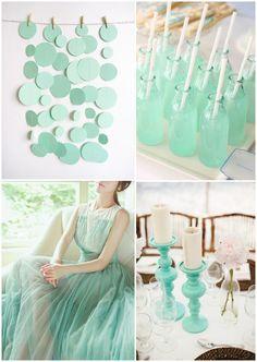 Green weddings ~ mint green