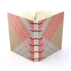 full cover, washi tape journal | handmade book by Ruth Bleakley #bookbinding