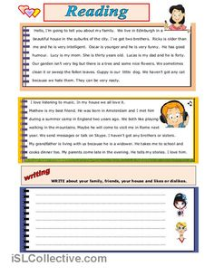 READING AND WRITING worksheet - Free ESL printable worksheets made by teachers