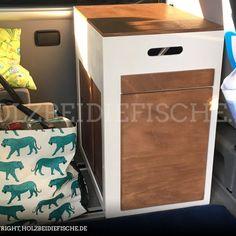Das fertige mobile Küchenmodul für den VW Bus Vw Bus T5, Vw T5 Camper, Volkswagen, T6 California Beach, California Camping, Van Storage, Campervan, Toy Chest, Vans