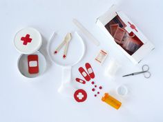 RECYCLED DOCTOR EMERGENCY KIT FOR PRETEND PLAY by LA MAISON DE LOULOU |