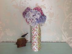 3 panelled slab built jug Floral Tie, Vase, Ceramics, Contemporary, Handmade, Home Decor, Ceramica, Pottery, Hand Made