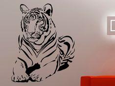 Tiger Wall Decal Wild Animal Vinyl Stickers Home Art Decoration Nursery Wall Art Living Room Decor Waterproof Sticker Vinyl Art Diy Art Painting, Wall Stickers Animals, Silhouette Art, Art Decoration, Vinyl Art, Mural Wall Art, Art, Lion Painting, Goddess Artwork