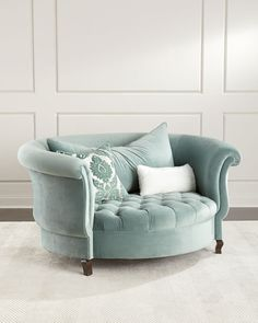 Haute House Harlow Sage Cuddle Chair Horchow - Shop Harlow Sage Cuddle Chair From Haute House At Horchow Where Youll Find New Lower Shipping On Hundreds Of Home Furnishings And Gifts Living Room Chairs, Living Room Furniture, Home Furniture, Living Room Decor, Antique Furniture, Furniture Stores, Modern Furniture, Furniture Ideas, Cheap Furniture