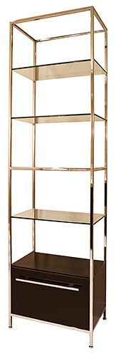 Terrace Etagere by Powell & Bonnell Modern Contemporary Homes, Contemporary Furniture, Glass Shelves, Storage Shelves, Free Standing Shelves, Ladder Bookcase, Bookcases, Sideboard Cabinet, Credenza
