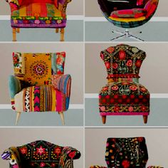 We could get some fabric like this and cover our desk chairs...I can sew a little...haha