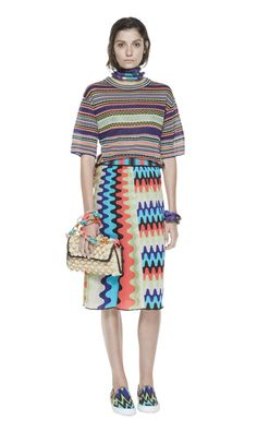 #MMissoni | Ribbons Sweater and Wave Skirt | Summer 2014 Collection