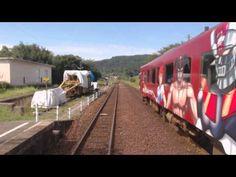 のと鉄道 穴水から七尾 前面展望 車内案内 花いろVer - YouTube