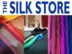 Great collection of silk fabrics and colours