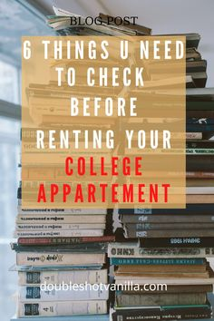 This is a must! If you are looking for college appartement and you dont know what to check, you must read this blog post to get an idea. You can thank me later! #blogpost #doubleshotvanilla #college #collegelist College List, Thank Me Later, Medical Students, Just Love, Posts, Reading, Blog, Check, Messages