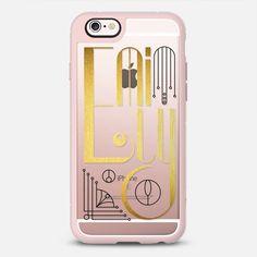 Emily (Gold Lettering Art Deco Transparent) - New Standard  Case  #Emily #lettering #typography #name #gold #golden #artdeco #artnoveau #deco #noveau #steampunk #ornate #letter #case #iphone #cover #iphones6 #phone #casetify #transparent