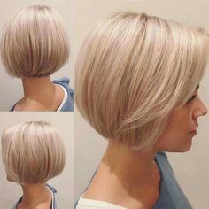 66 Chic Short Bob Hairstyles & Haircuts for Women in 2019 - Hairstyles Trends Short Bob Haircuts, Bob Haircuts For Women, Haircut Short, Haircut Bob, Medium Hair Cuts, Short Hair Cuts, Short Bob Cuts, Pixie Cuts, Classic Bob Haircut