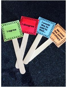 accountable talk signs for students to use at their desks