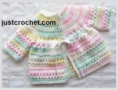 Captivating All About Crochet Ideas. Awe Inspiring All About Crochet Ideas. Crochet Baby Cardigan Free Pattern, Crochet Baby Jacket, Crochet Baby Sweaters, Gilet Crochet, Baby Sweater Patterns, Knit Baby Dress, Baby Girl Sweaters, Baby Girl Crochet, Crochet Baby Clothes