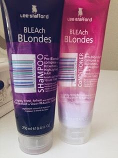 beauty review; lee stafford bleach blonde VS bleach london silver shampoo and conditioner