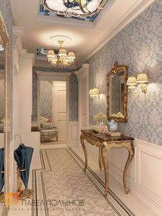 Фото дизайн холла из проекта «Дизайн трехкомнатной квартиры 126 кв.м. в классическом стиле с винтажными элементами, ЖК «Пять звёзд»»