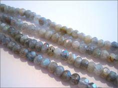 Labradorite 4x6mm Faceted Rondelles - Semi Precious Gemstone Beads UK - The UKs Number #1 Gemstone Bead Supplier