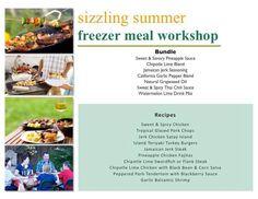 Sizzling Summer Workshop - Bundle List & Recipes