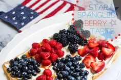 It's 4th of July this week, so in honor of this all-American holiday we're bringing you red, white, and blue themed posts all week long! To start us off, I wanted to share this easy and delicious berry tart recipe. It's great for summer potlucks and what better treat to have on the 4th than tons of fresh red and blue berries?! This recipe reminds Memorial Day Celebrations, Summer Potluck, Berry Tart, 4th Of July Desserts, Blue Food, Star Spangled, Tart Recipes, Delicious Desserts, Raspberry