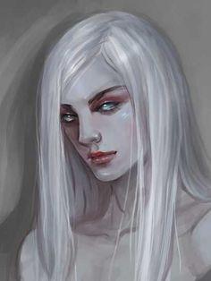 Character Creation, Character Concept, Character Art, Dnd Characters, Fantasy Characters, Albino Girl, Dark Elf, Character Portraits, Pretty Art