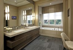 Contemporary Bathroom Contemporary Bath Vanity Next To Stone Wall And Stone Sink With Wooden Framed Mirror Design, Pictures, Remodel, Decor and Ideas - page 7