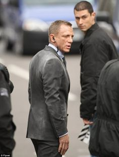 Photo taken of Daniel Craig and James Bond Skyfall Set in Whitehall, London... am really looking forward to this picture!